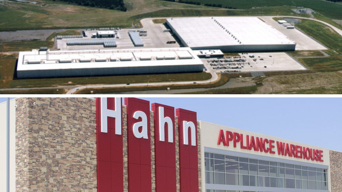 Walmart and Hahn Appliance Buildings