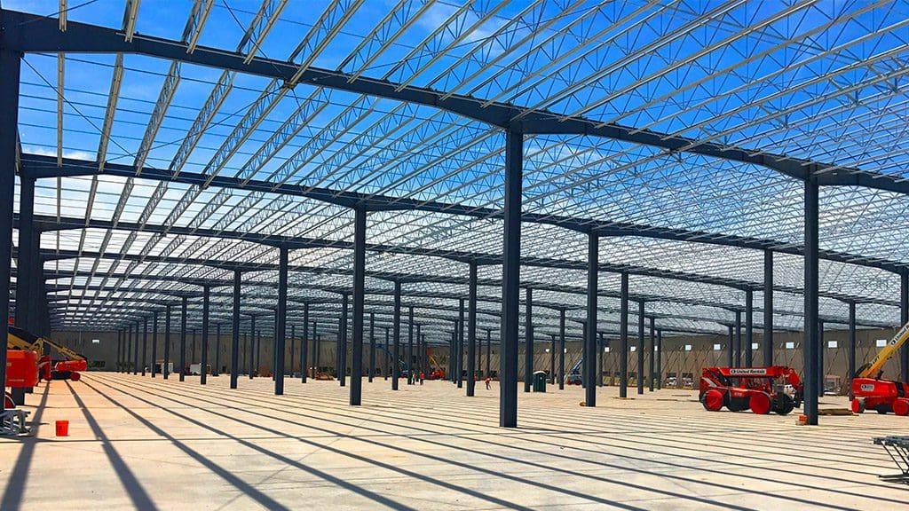 Steel View of Amazon Sortation Facility